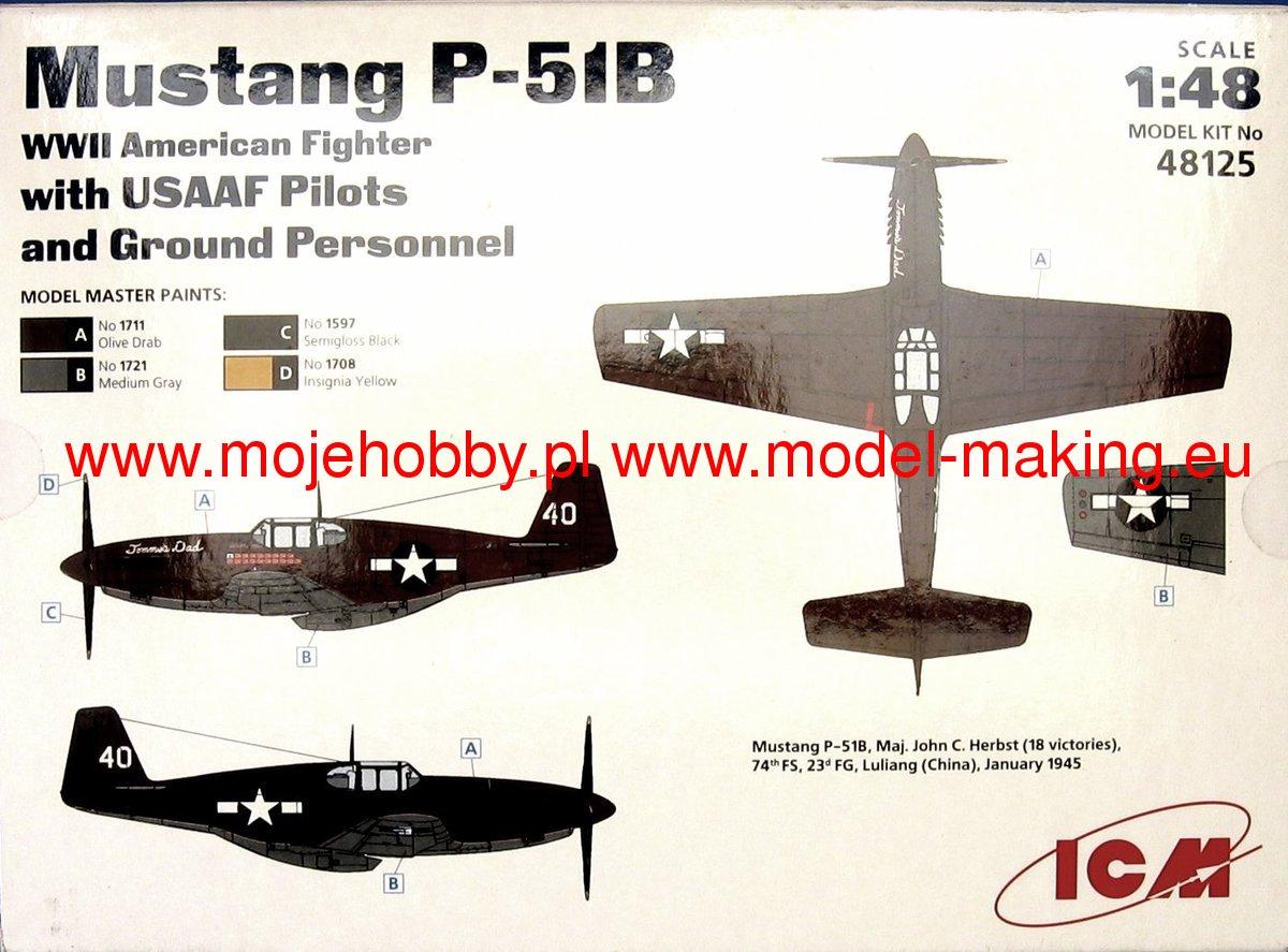 North American P-51 B - ICM 1/48 1265_2_icm48125_1