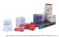 Cardboard Boxes - water and soda drinks - Image 1