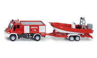 Unimog Fire Engine with Boat