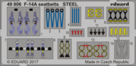 F-14A seatbelts STEEL TAMIYA 61114 - Image 1