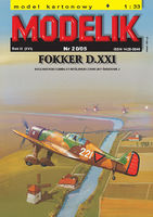 Dutch fighter FOKKER D.XXI