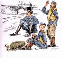 German pilots at rest WW II 3fig. - Image 1