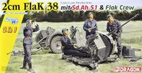 2cm FlaK 38 Early/Late Production mit Sd.Ah.51 and Crew (2 in 1)