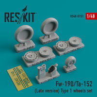 Fw-190/Ta-152 (Late version) Type 1 wheels set - Image 1