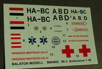 Mi-2 heli. Ambulance HUN markings - Image 1
