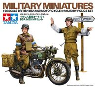 British BSA M20 Motorcycle with Military Police Set