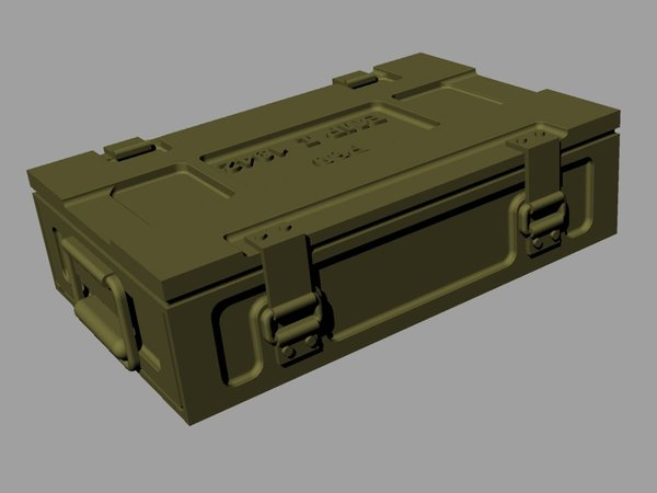 Ammo boxes for 25pdr (HE and AT pattern - Image 1