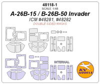 A-26B-15 / B-26B-50 Invader (ICM) - (Double sided) + wheels masks