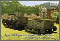 Type 94 Japanese tankette with trailers (2 trailers in the box!)