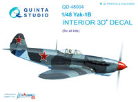 Yak-1B (late production) 3D-Printed & coloured Interior on decal pape - Image 1