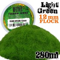 Static Grass Flock 12mm - Light Green - 280 ml - Image 1