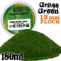 Static Grass Flock 12mm - Grass Green - 180 ml - Image 1