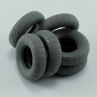 Spare tires for Kubelwagen Type 82 for Tamiya