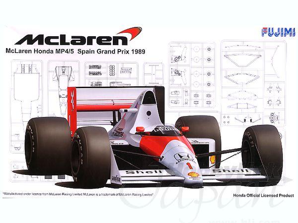 Mclaren honda mp4 5 grand prix spain 1989 fujimi 090627 for Catalogo grand prix