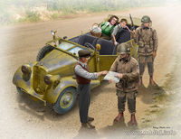 US Paratroopers and Civilians, 1945 (nie zawiera zamochodu/car not included)