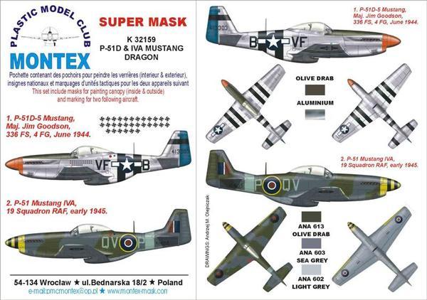 P-51 MUSTANG IVA DRAGON Montex K32159