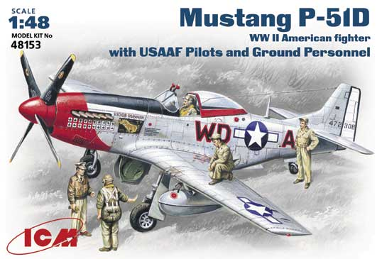 Mustang P-51D with USAAF Pilots and Ground Personnel ICM 48153