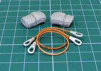 Towing cables for Soviet MBT T-55 (Set designed for MiniArt kit.)