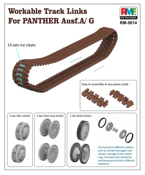Workable Track Link for Panther Ausf.A/G - Image 1