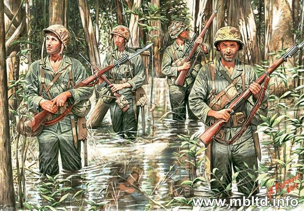 US Marines in jungle (1941-1945) - Image 1