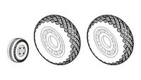 P-51D Mustang - Wheels 1/32 (Diamond and Hole Tread Pattern) for Dragon/Tamiya/Trumpeter - Image 1
