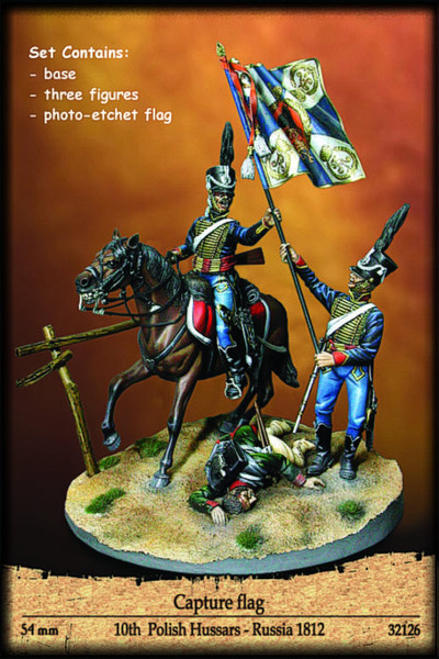 Capture Flag, 10th  Polish Hussars Russia 1812 - Image 1
