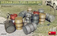 German 200 Liter Fuel Drum Set