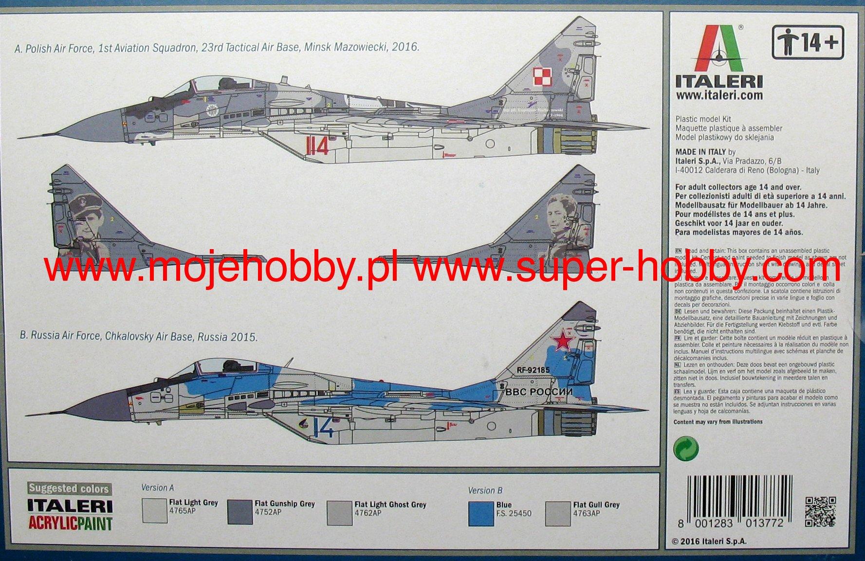 1:72 Mikoyan MiG-29A Fulcrum Italeri 1377