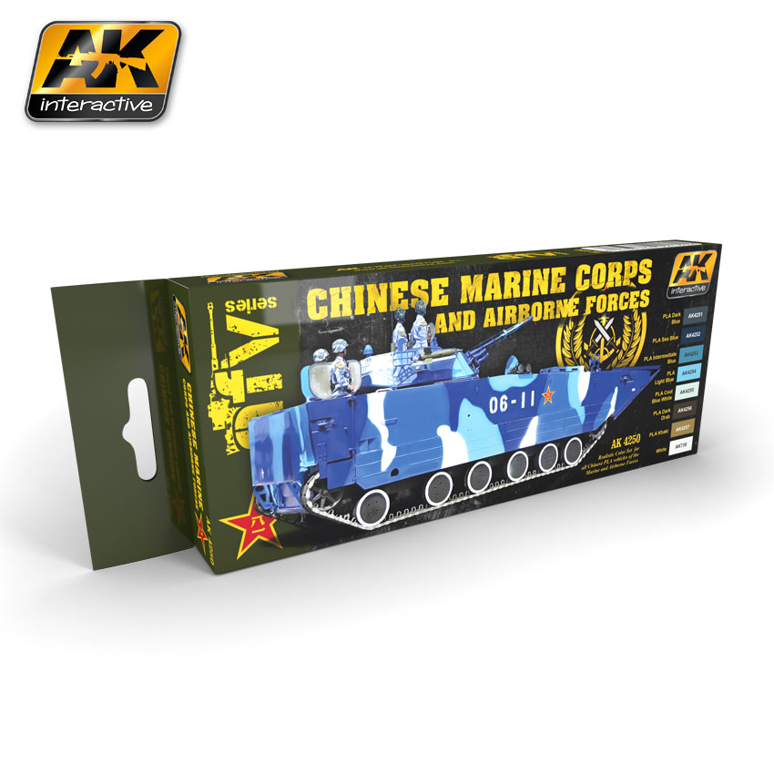 AK 4250 Chinese Marine Corps and AIrborne Forces colors set - Image 1