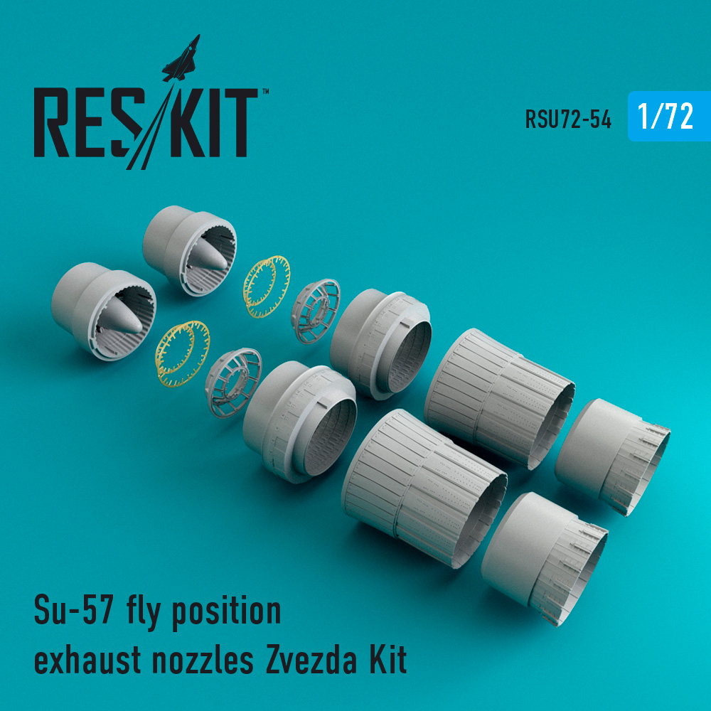 Su-57 fly position exhaust nozzles Zvezda Kit - Image 1