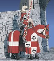 Medieval Knight Mounted XV Century