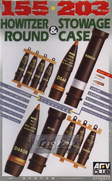 105/203mm HOWITZER ROUND and STOWAGE CASE - Image 1