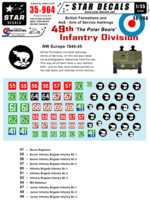 British 49th Polar Bear Infantry Division Formation & AoS markings. - Image 1