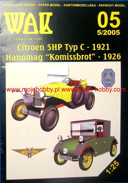 Citroen 5HP Typ C 1921 and Hanomag Homissbrot 1926 - Image 1