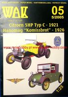 Citroen 5HP Typ C 1921 and Hanomag Homissbrot 1926