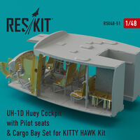 UH-1D Huey Cockpit with Pilot seats & Cargo Bay Set for KITTY HAWK Kit
