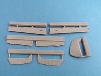 Bf 109 E control surfaces for Airfix - Image 1