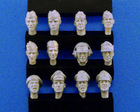 German Heads set #3 (WWII) 12ea - Image 1