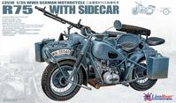 German IIWW Motorcycle BMW R75 with Sidecar - Image 1