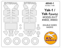 Yak-1 (early) / Yak-1 - (MODELSVIT) - (double sided) + wheels masks - Image 1