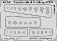 Template ovals & oblong STEEL tool