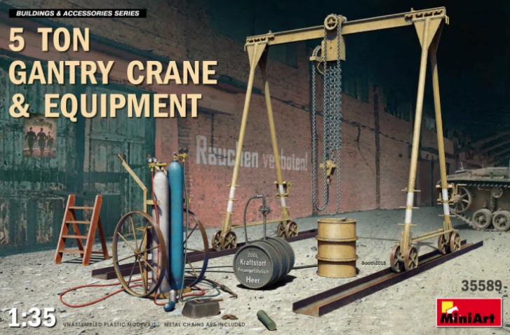 5 Ton Gantry Crane and Equipment - Image 1