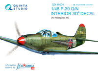 P-39Q/N  3D-Printed & coloured Interior on decal paper - Image 1