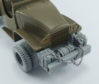GMC CCKW 2,5t 6x6 (front bumper, aditional canisters, winch and double tires) for Tamiya - Image 1