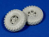 "Road Wheels for Sd.Kfz.9 ""FAMO"" (British Cross Country tyres)"