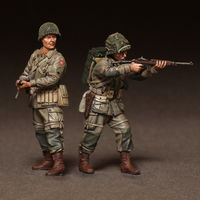 Sergeant and radio operator 82st Airborne in battle. WW II 2 figures - Image 1