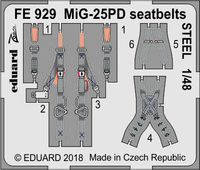 MiG-25PD seatbelts STEEL  ICM - Image 1