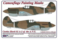Camouflage painting masks Curtiss Hawk 81-A2 of China AF WWII - Image 1