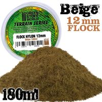 Static Grass Flock 12mm - Beige - 180 ml - Image 1