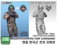 Modern ROK Army Tank Commander for K2 (Digital camo Uniform)